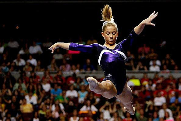 Shawn Johnson Leap Photo