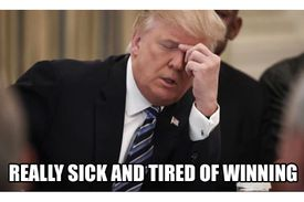 really sick and tired of winning - trump meme