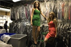 Rent the Runway Founders, Jennifer Carter Fleiss and Jennifer Hyman at the headquarters