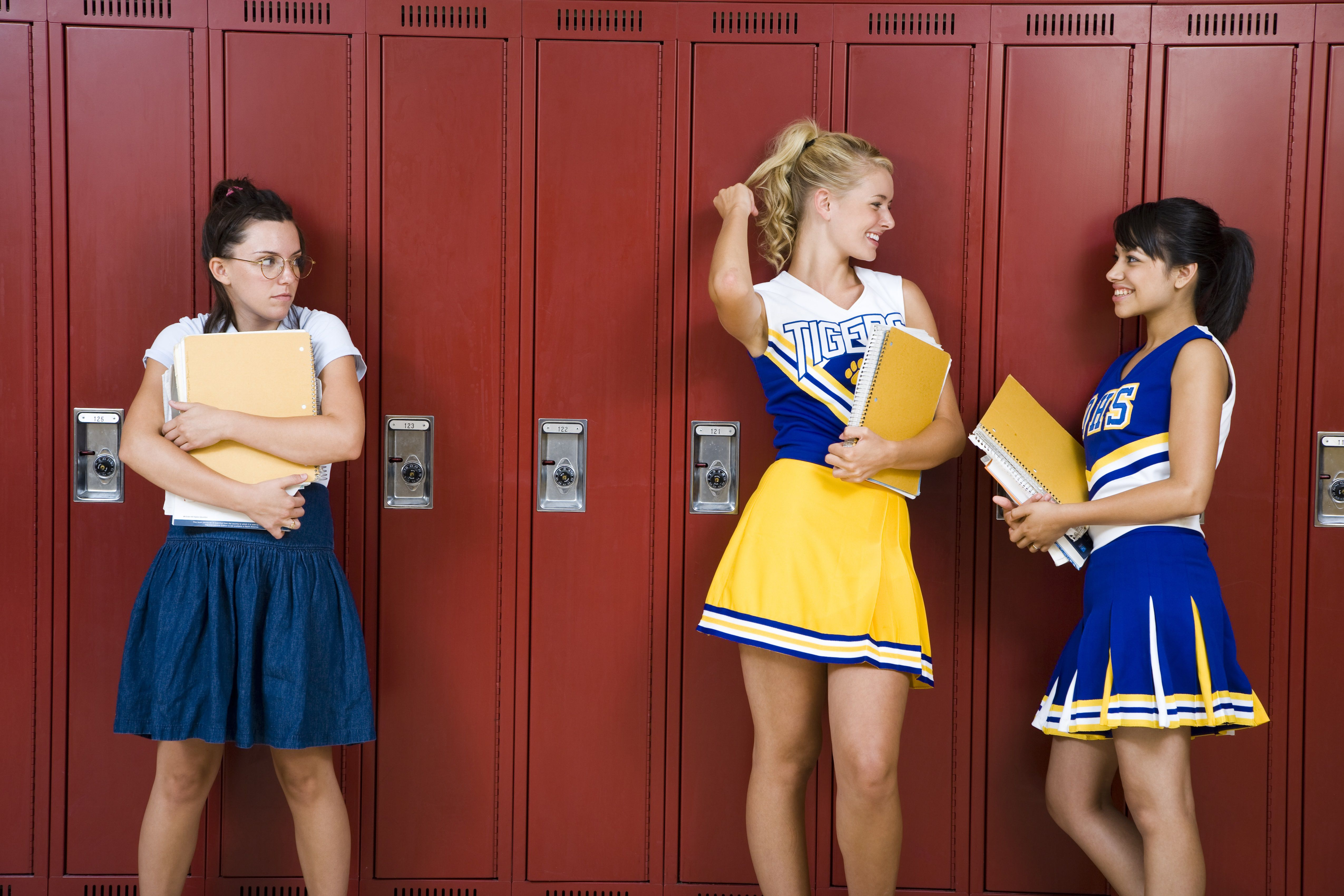 Two High School cheer leaders and a nerd