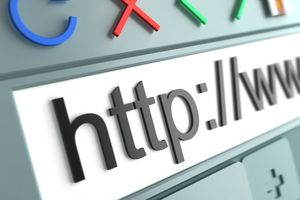 Close up of generic Internet browser