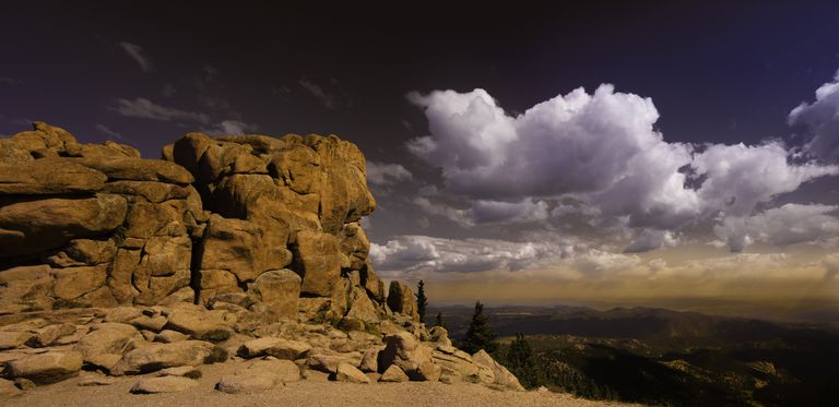 Pikes Peak is mountain in Front Range of Rocky Mountains.