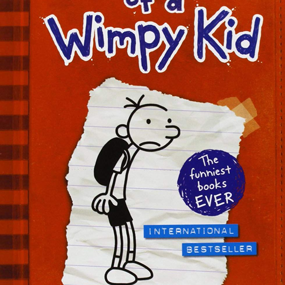 """Cover art of """"Diary of a Wimpy Kid,"""" a humorous novel for middle school age, by Jeff Kinney."""