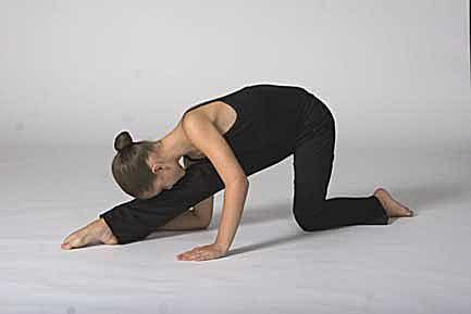 Reverse lunge for splits