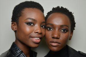Models with short natural hair
