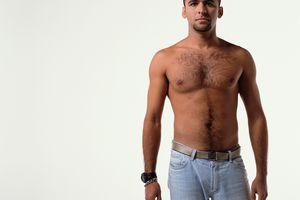 Semi-Naked Gay Man