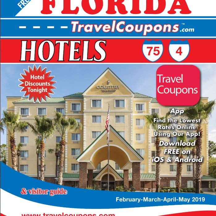 The front cover of the Florida travel coupon booklet