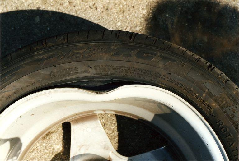 A bent wheel