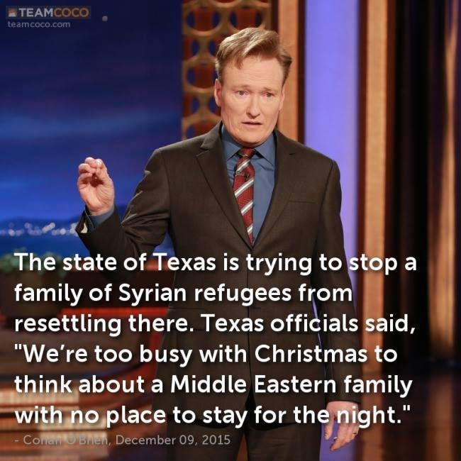 Conan O'Brien Christmas Joke About Texas