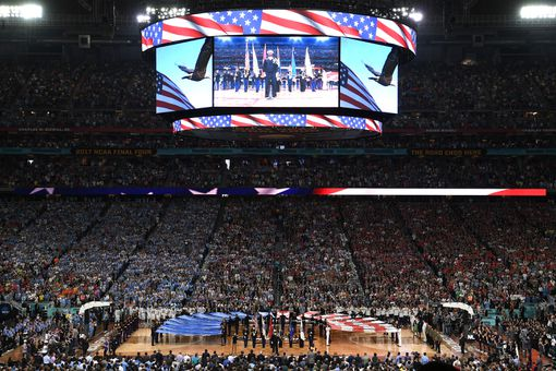 Gonzaga Bulldogs and the North Carolina Tar Heels during the 2017 NCAA Men's Final Four Championship