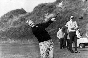 Jack Nicklaus hitting a golf shot