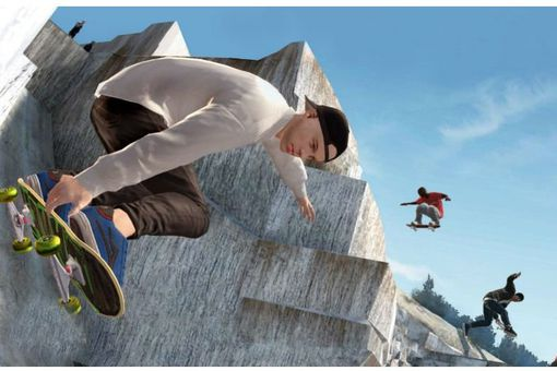 Skate 3 screenshot of skateboarders