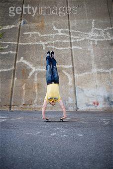 Skateboard Handstand