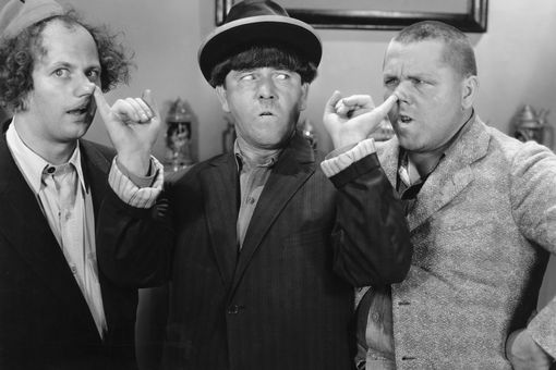 Moe Howard with the Three Stooges