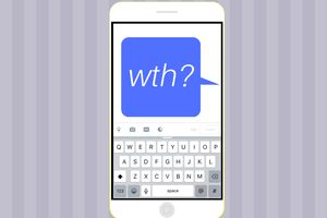 A text message of