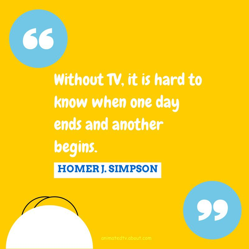 Homer Simpson quote about TV