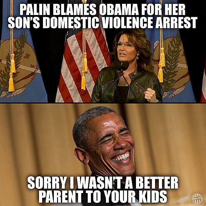 Palin Blames Obama for Son's Arrest