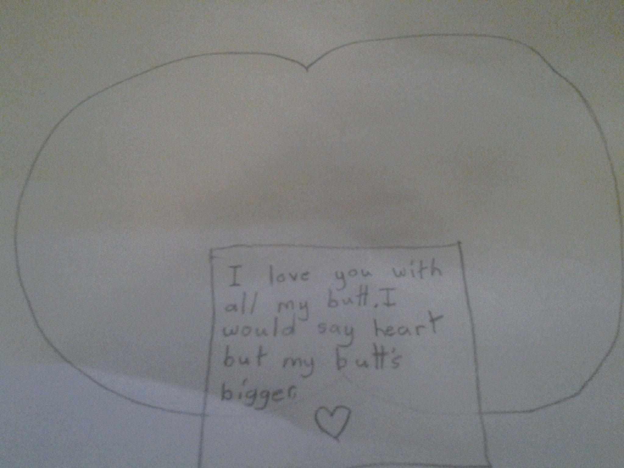 Funny kid Valentine's Day card