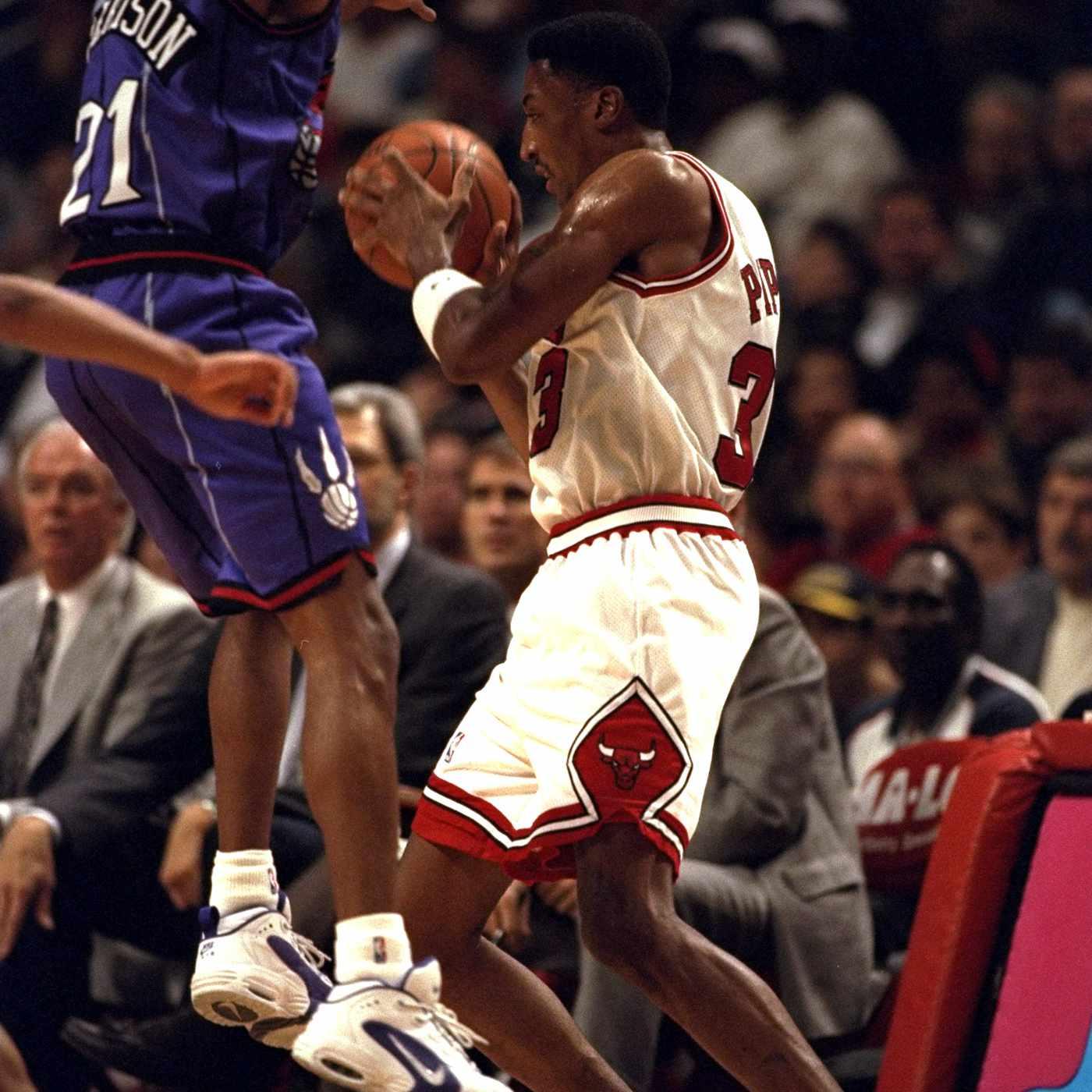 Scottie Pippen wearing Nike Air Way Up