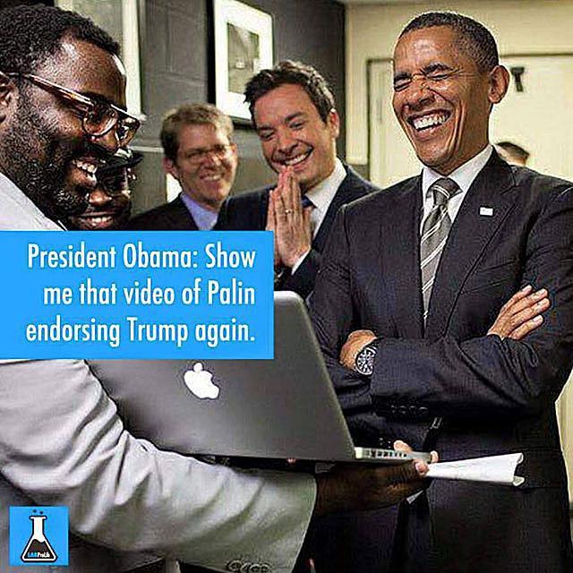 Obama Laughing at Palin
