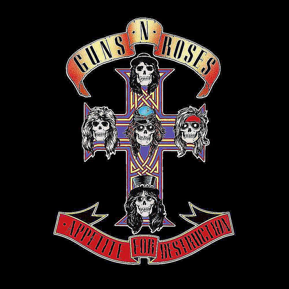 Gun N' Roses - 'Appetite for Destruction' album cover