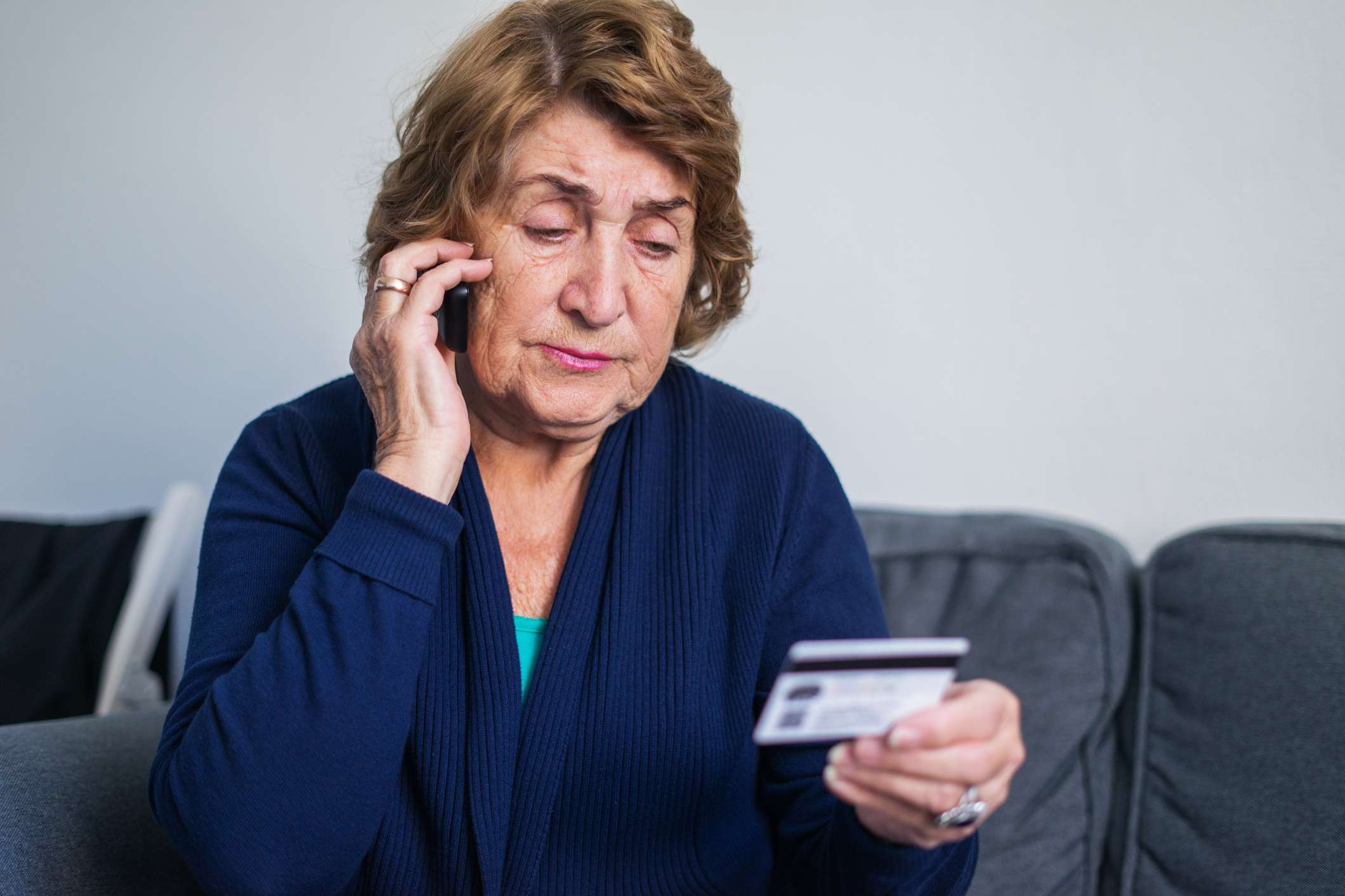 Woman Being Asked to Pay Over the Phone