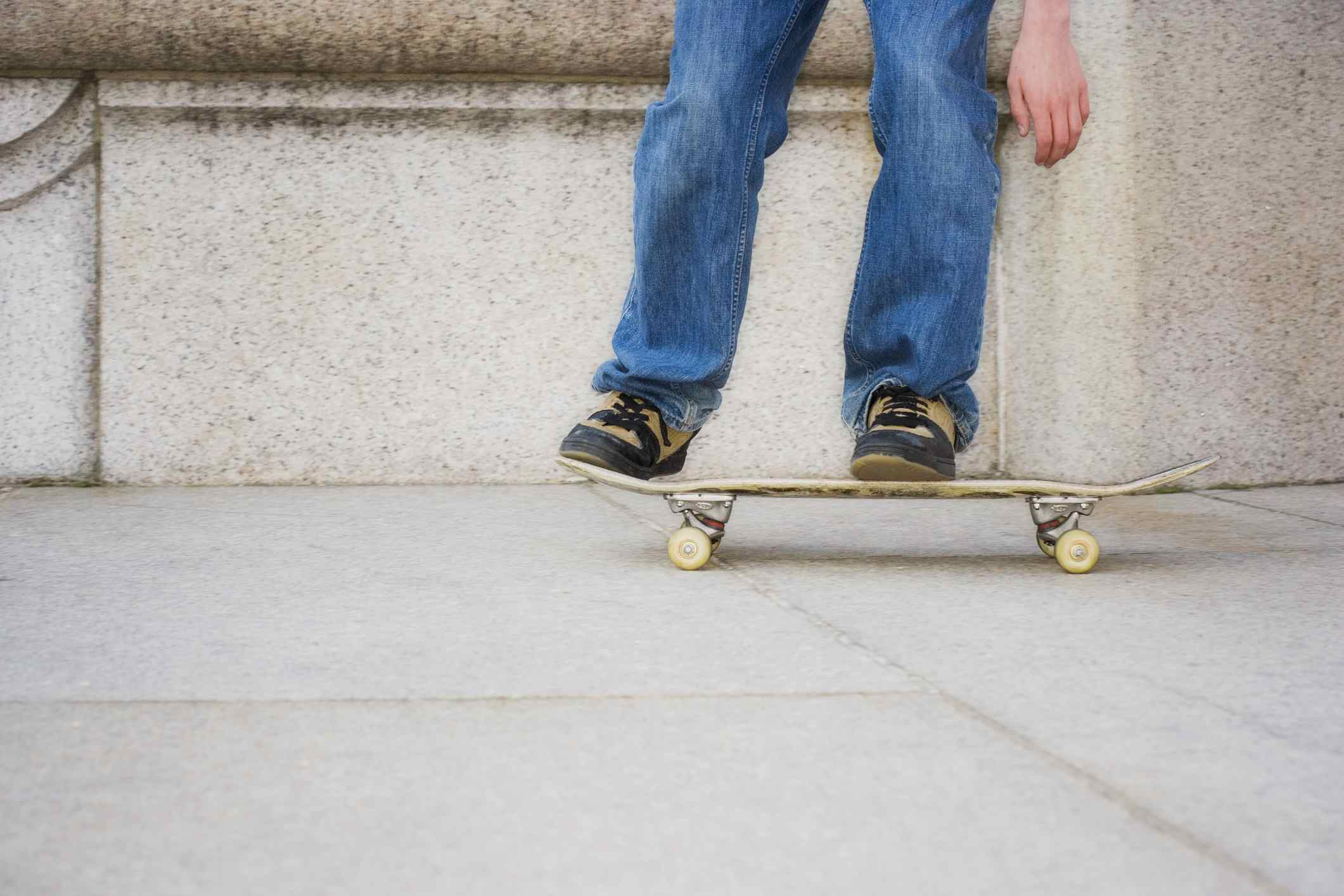 a young person on a skateboard