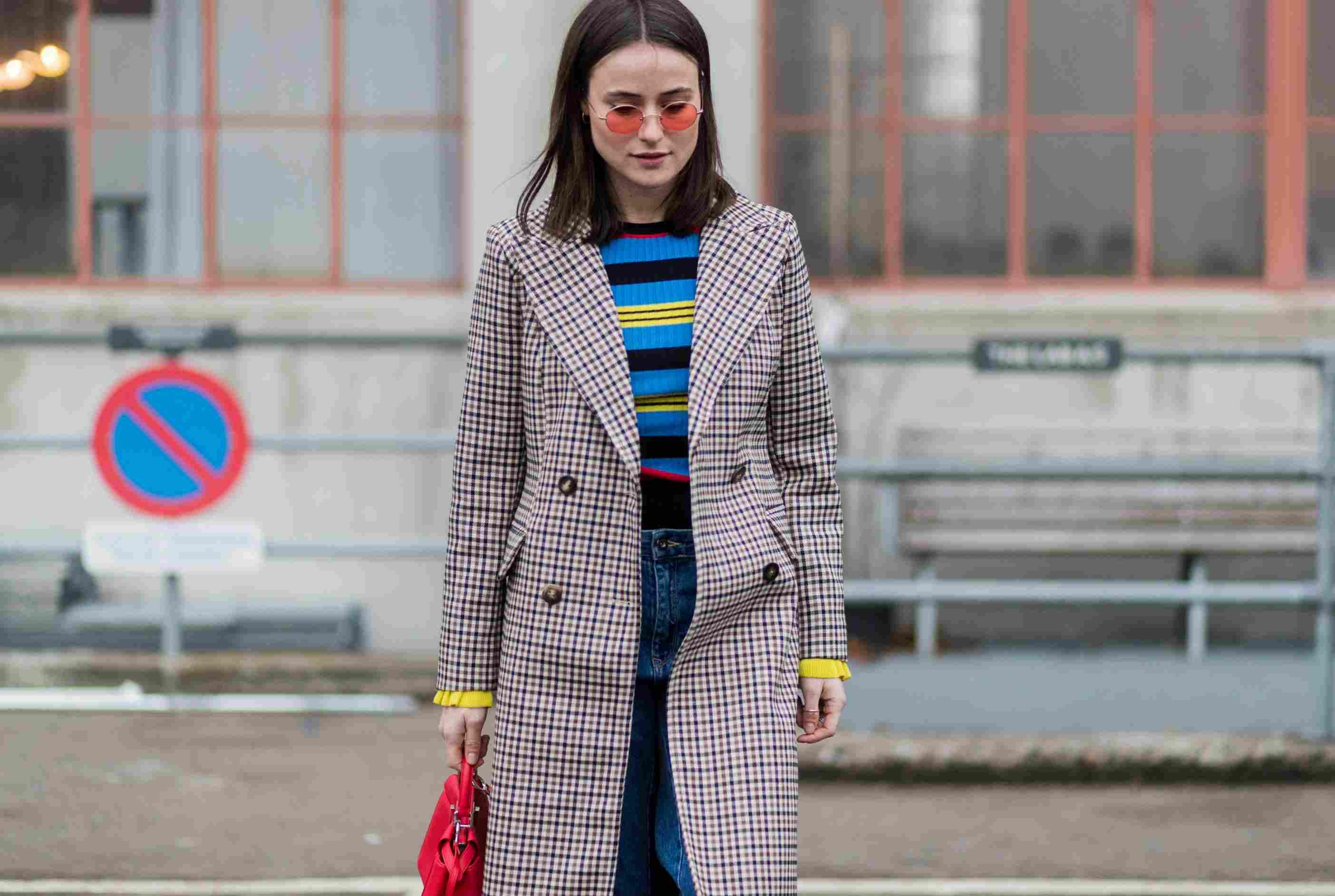 Street style denim and stripes