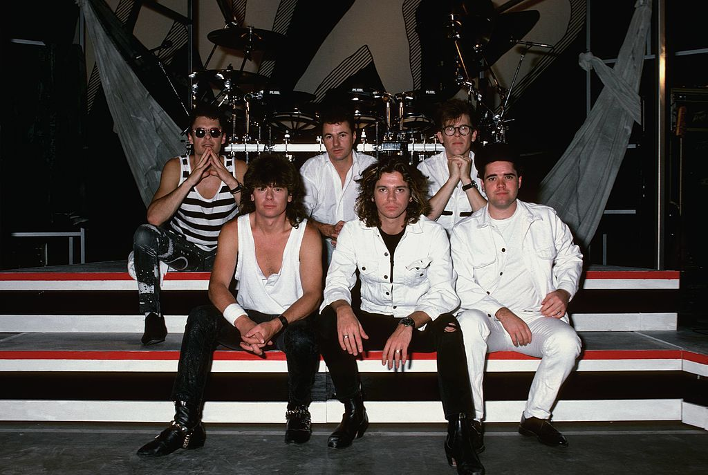 portrait of band INXS