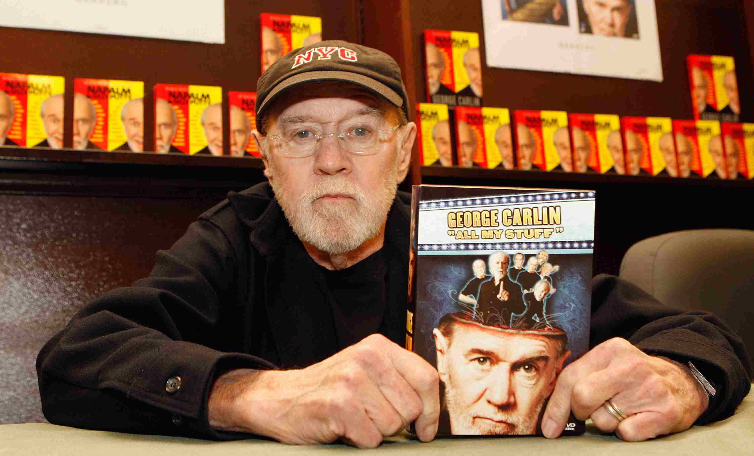 George Carlin Signs Copies Of His New Book 'All My Stuff'
