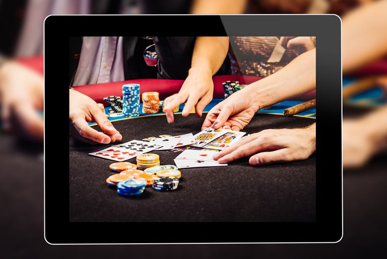 Image of people playing poker in a social casino game