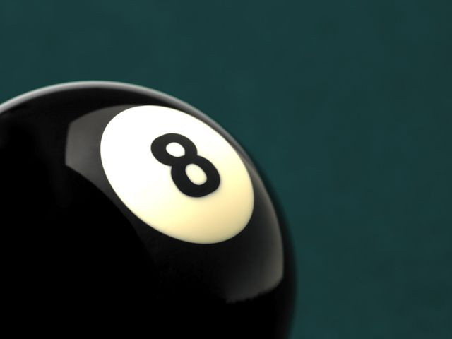 Close up of 8 ball