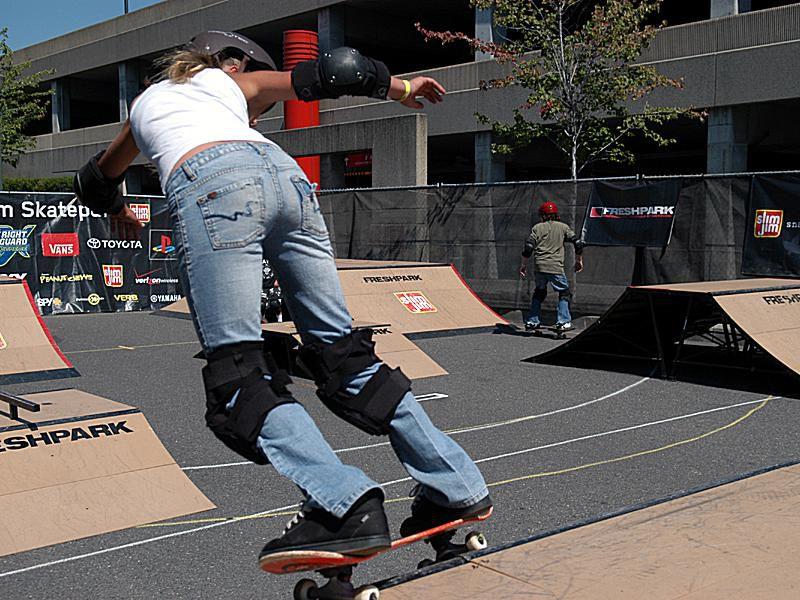 Powerslide on skateboard