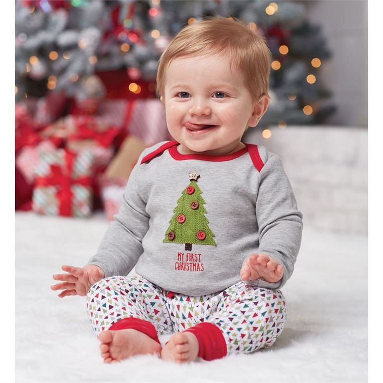 Mud Pie My First Christmas Tree Two-Piece Set - 20 Adorable Baby's First Christmas Outfits