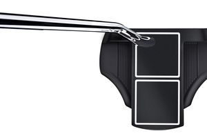 Illustration of how a face-balanced putter will balance—with the clubface pointing skyward