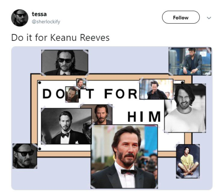 Simpsons reference: Do It For Keanu