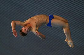 LONDON, ENGLAND - APRIL 27: Tom Daley of Great Britain competes in the Men's 10m Platform Final on day three of the FINA/NVC Diving World Series at the London Aquatics Centre on April 27, 2014 in London, England.