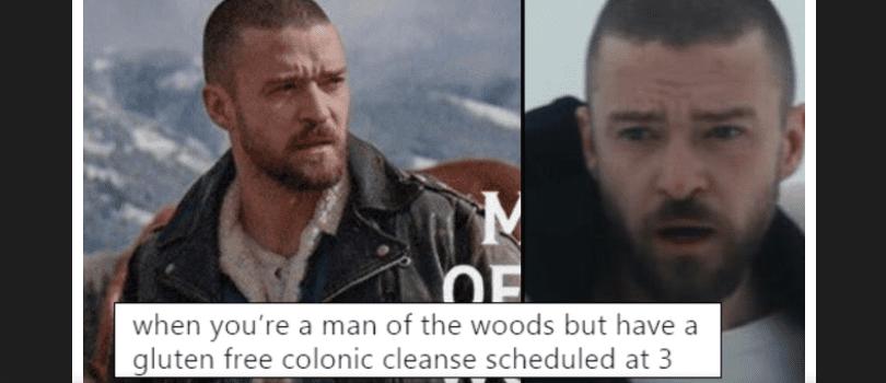 Justin Timberlake man of the woods meme