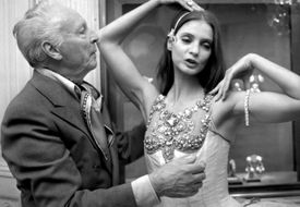Dance choreographer George Ballentine with ballerina