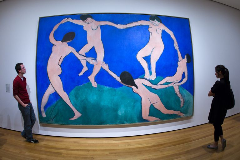 Dance painting by Henri Matisse at MOMA (Museum of Modern Art).