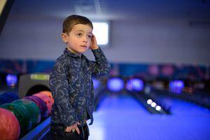 Young Boy Bowling 5