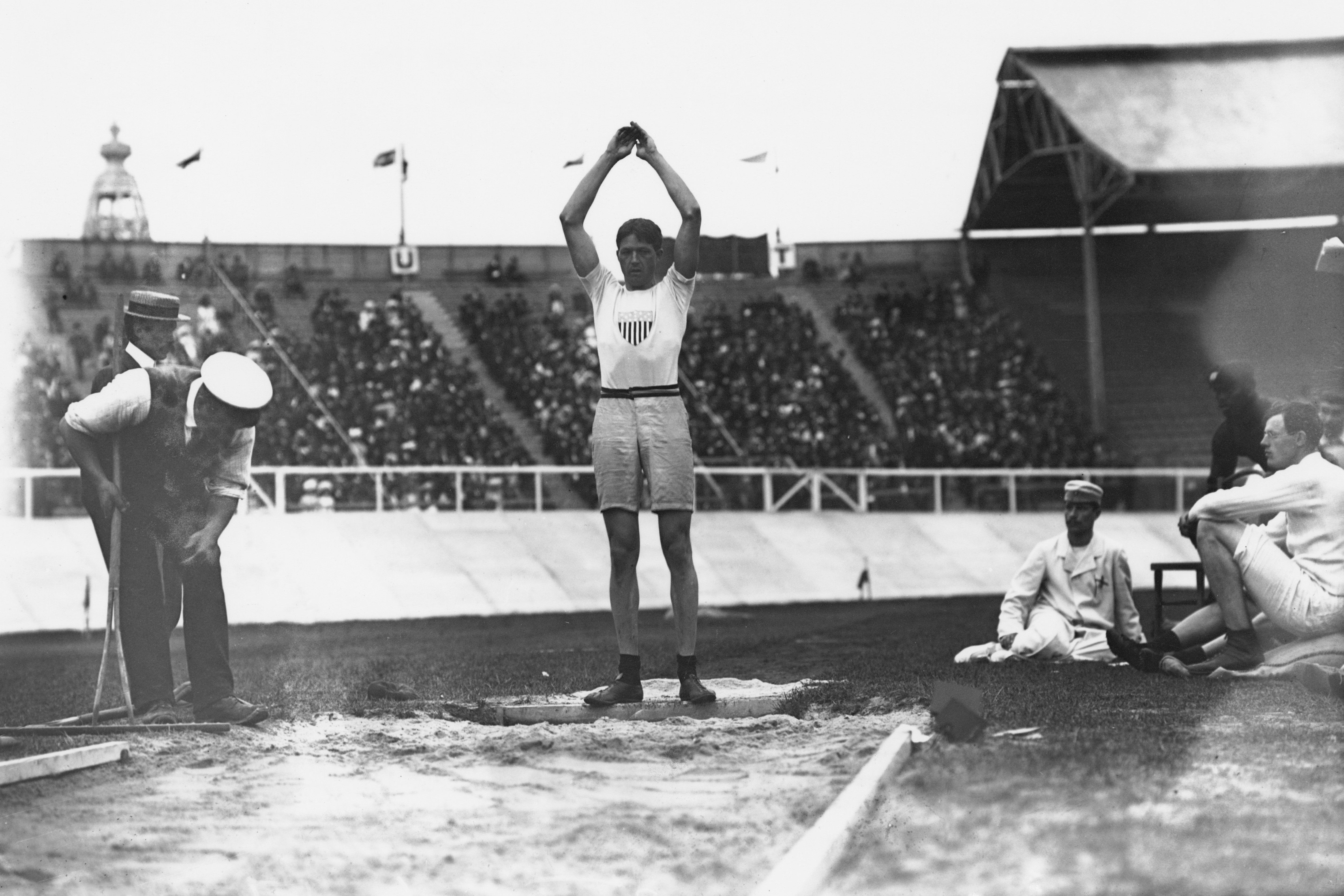 Ray Ewry at the 1908 Summer Olympics in London