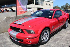 A 2008 Shelby Mustang GT500KR Fastback.