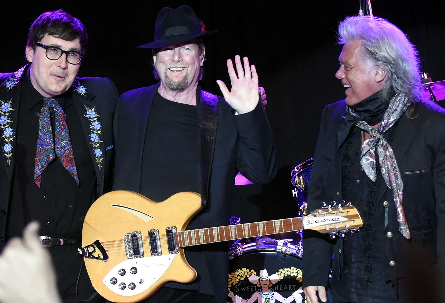Chris Scruggs, Roger McGuinn, and Marty Stuart perform during the Sweetheart of the Rodeo Reunion