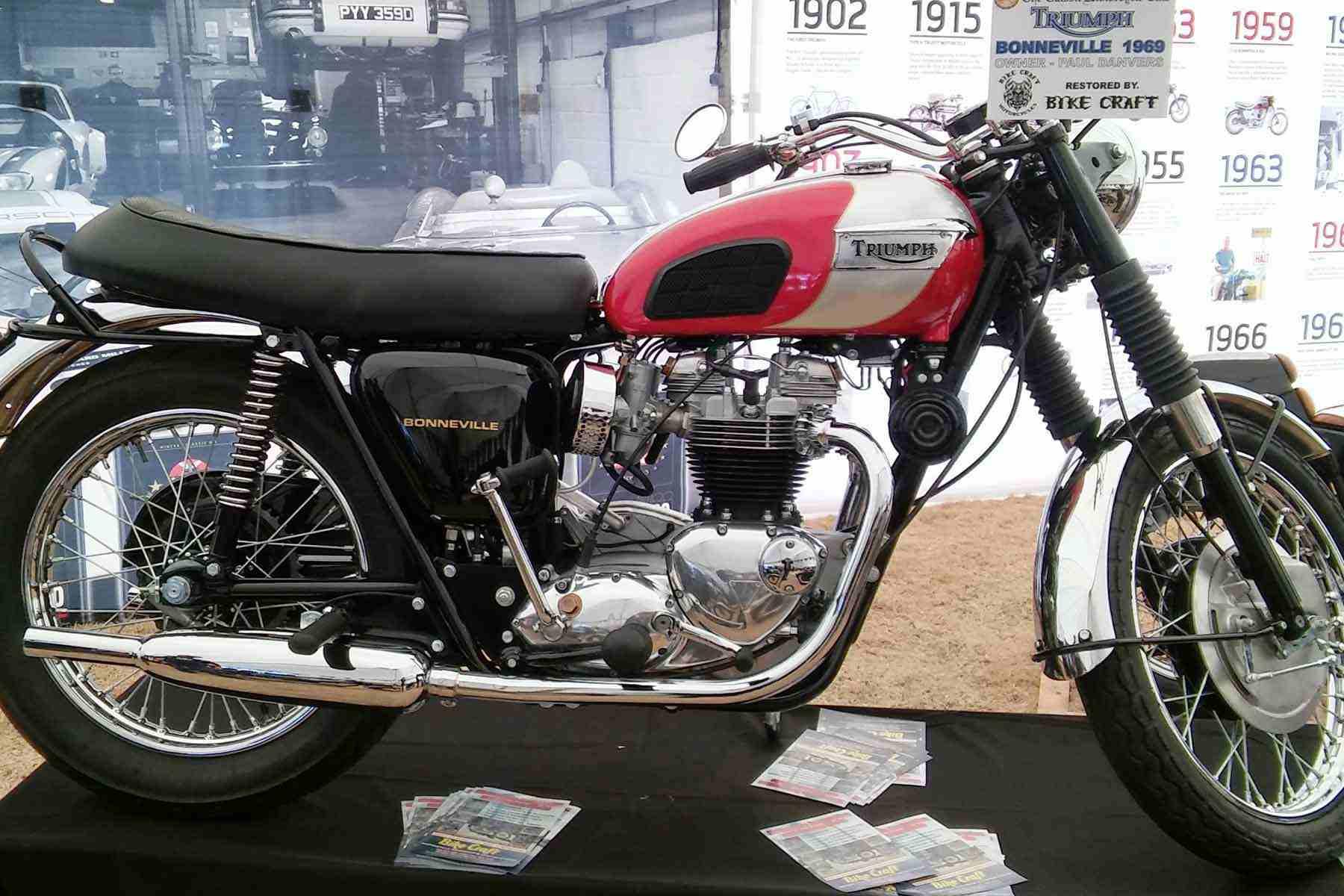 A 1969 Triumph Bonneville.