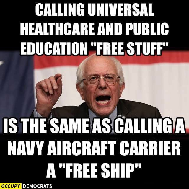 Bernie Sanders Free Stuff