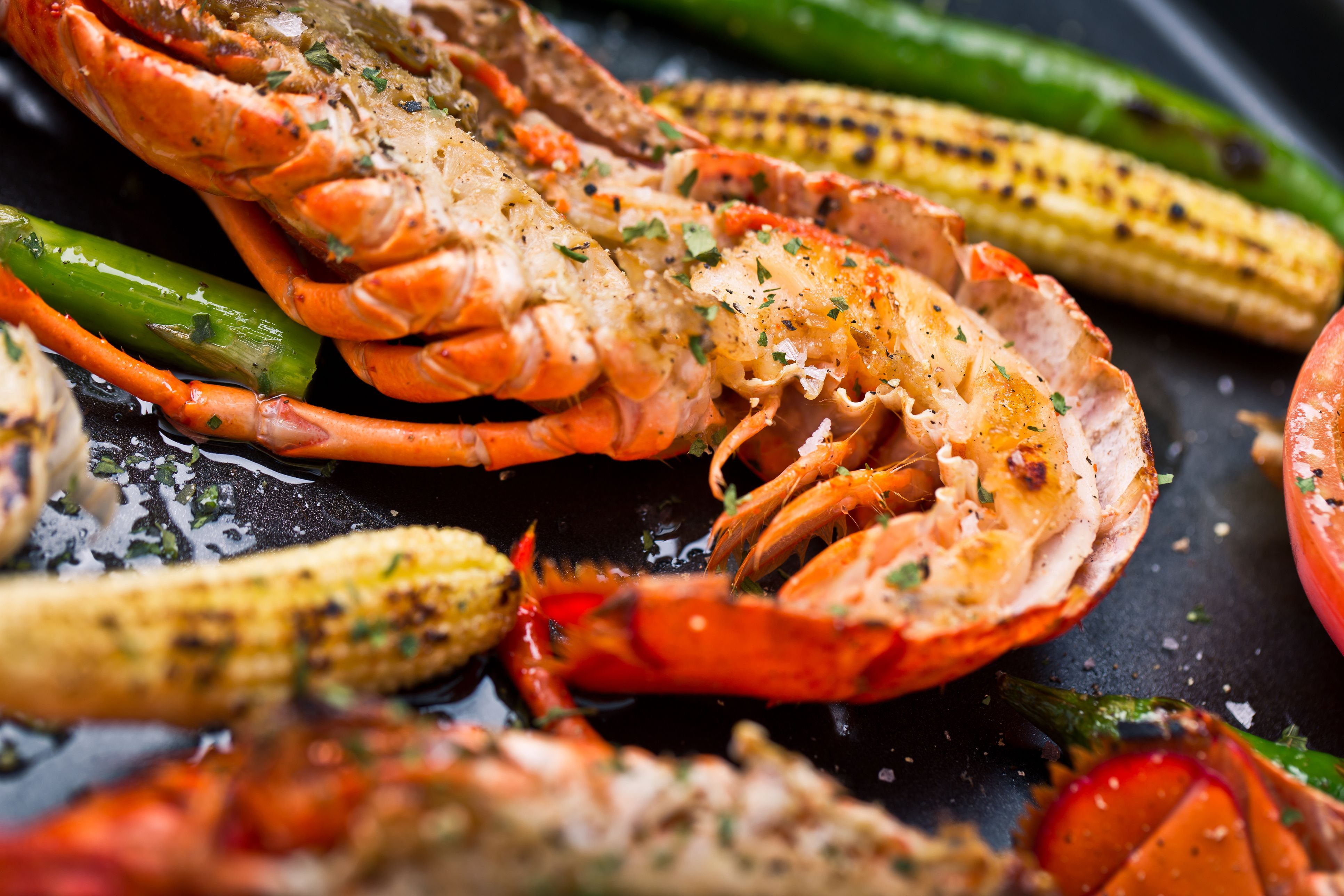 Delicious Fresh Cooked and Grilled Lobster