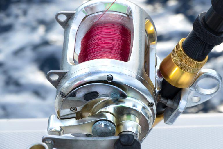 Fishing reel on the fishing boat