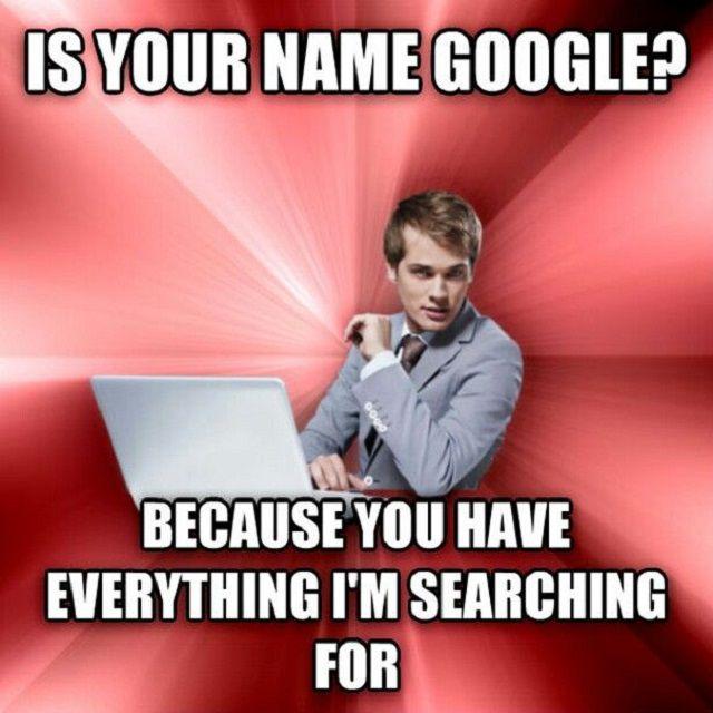 Funny google pick up line