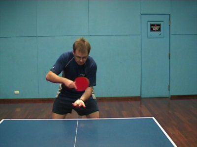 Photo of BH Backspin/Sidespin Serve - Ready Position